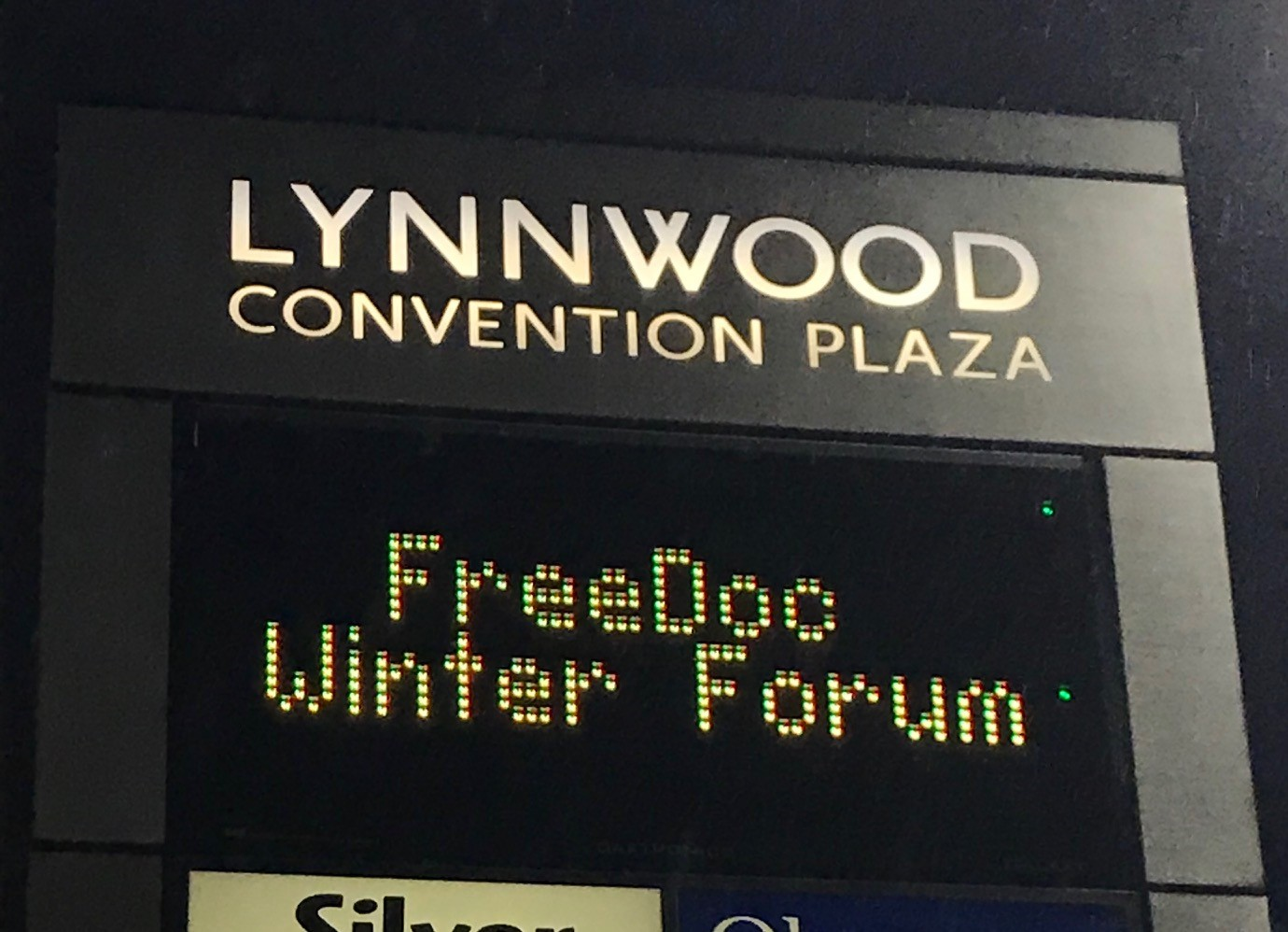 Getting ready to open Winter Forum